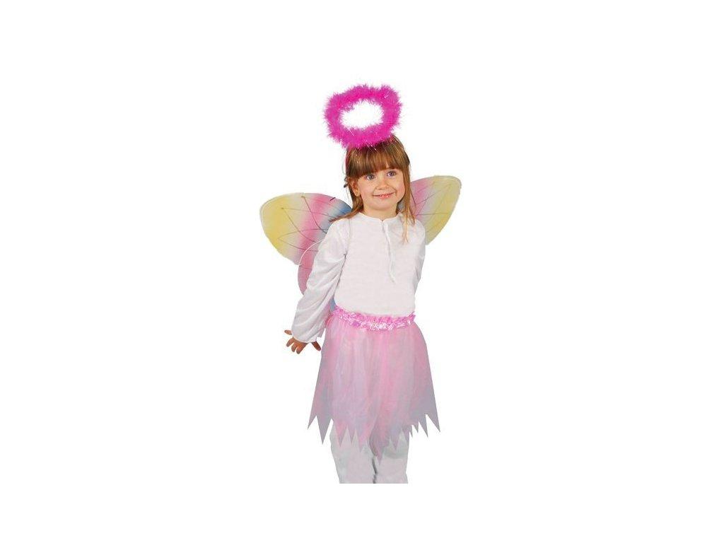 Kostým motýlek  dětský dívčí karnevalový maškarní kostým