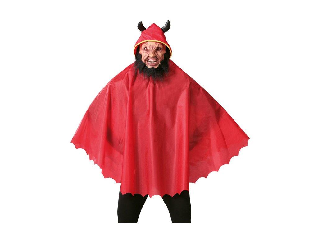 Plášť lucifer  s kapucí 120 cm  pánský karnevalový kostým