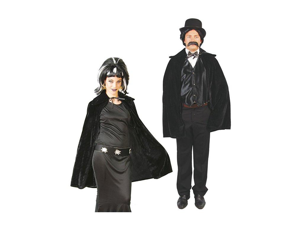 Plášť černý 105 cm  pánský karnevalový kostým