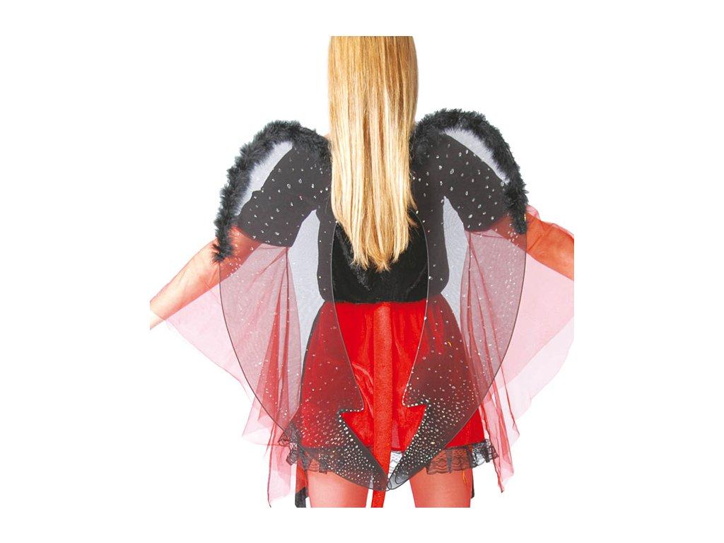 Černá křídla 60 cm