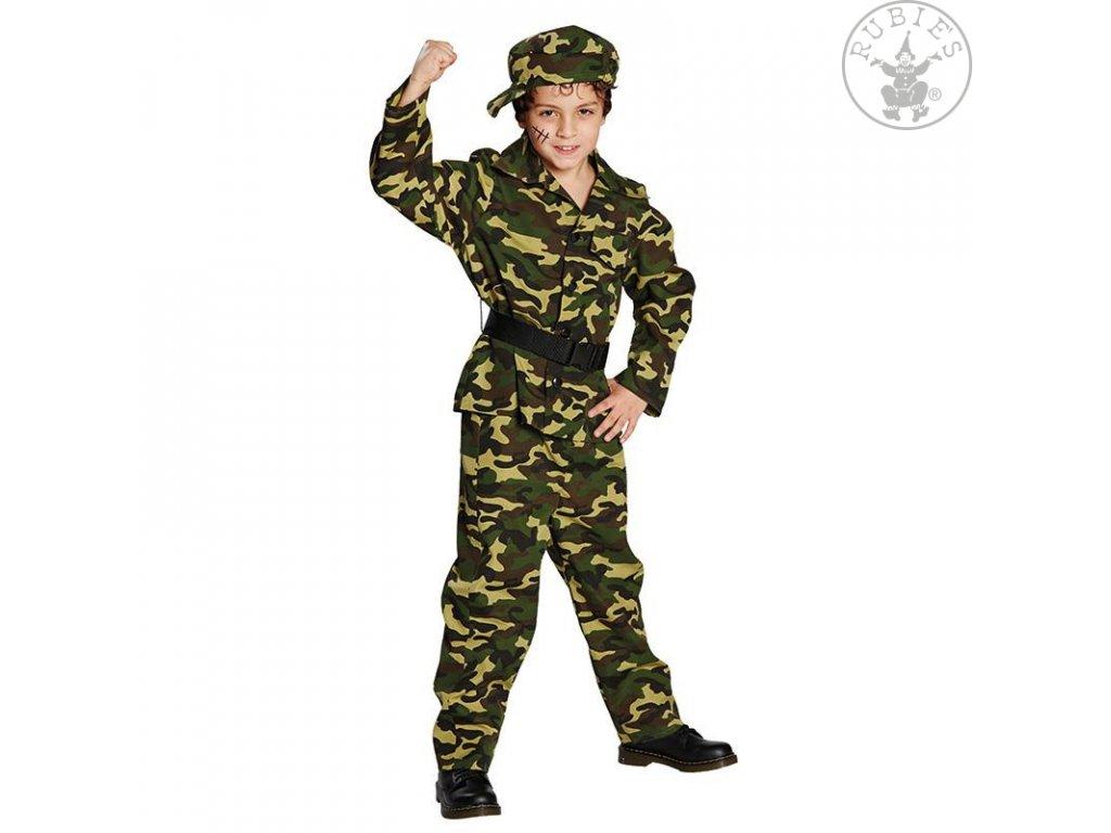 Vojenské maskáče - voják
