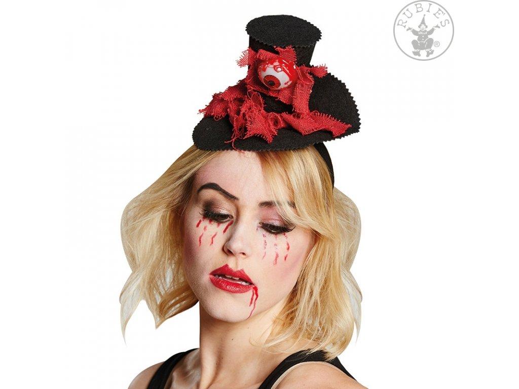 Horrorový miniklobouček s krvavým okem D  Halloween
