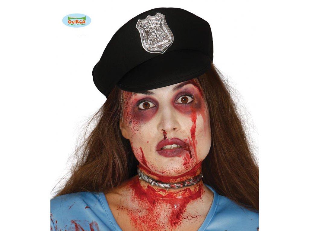 Imitace zranění - drát na krku  Halloween