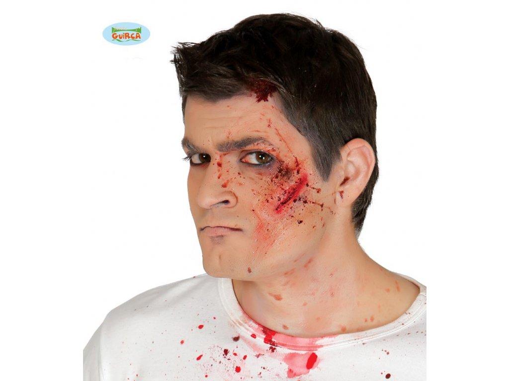 Imitace zranění - tržná rána  Halloween