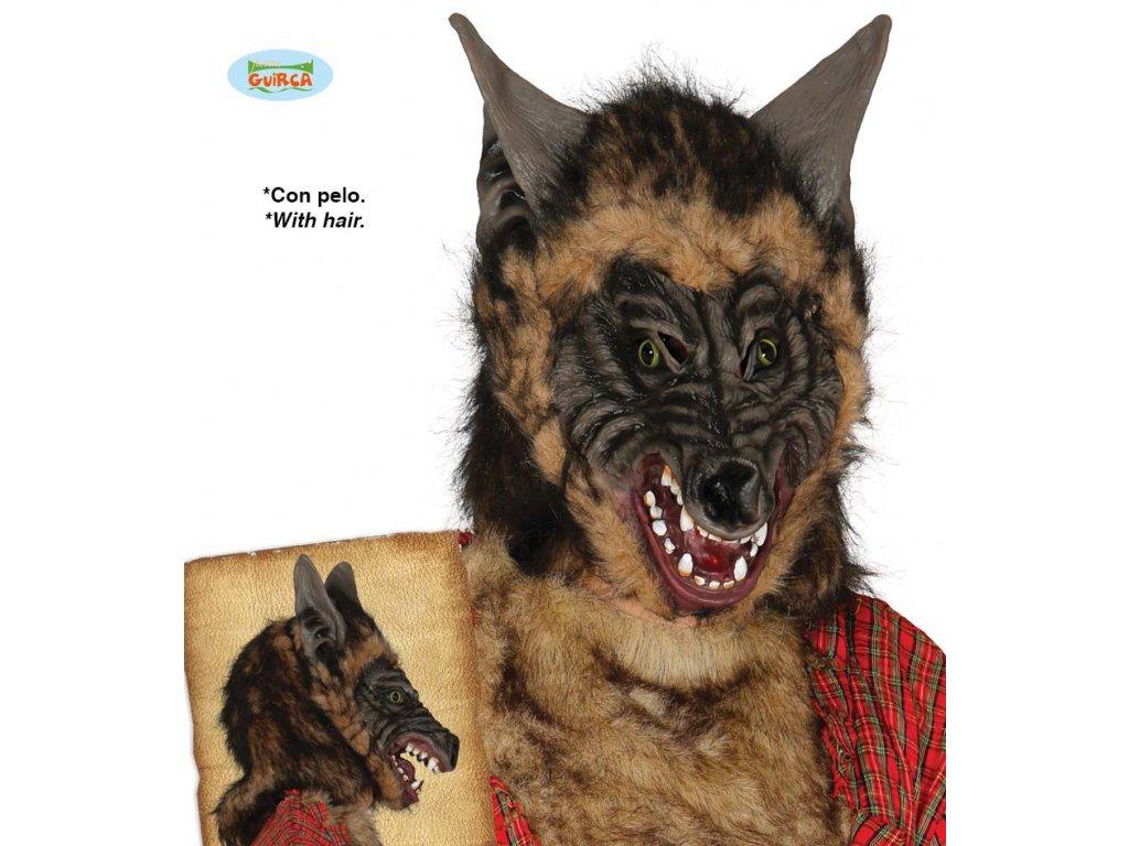 Latexová maska vlka
