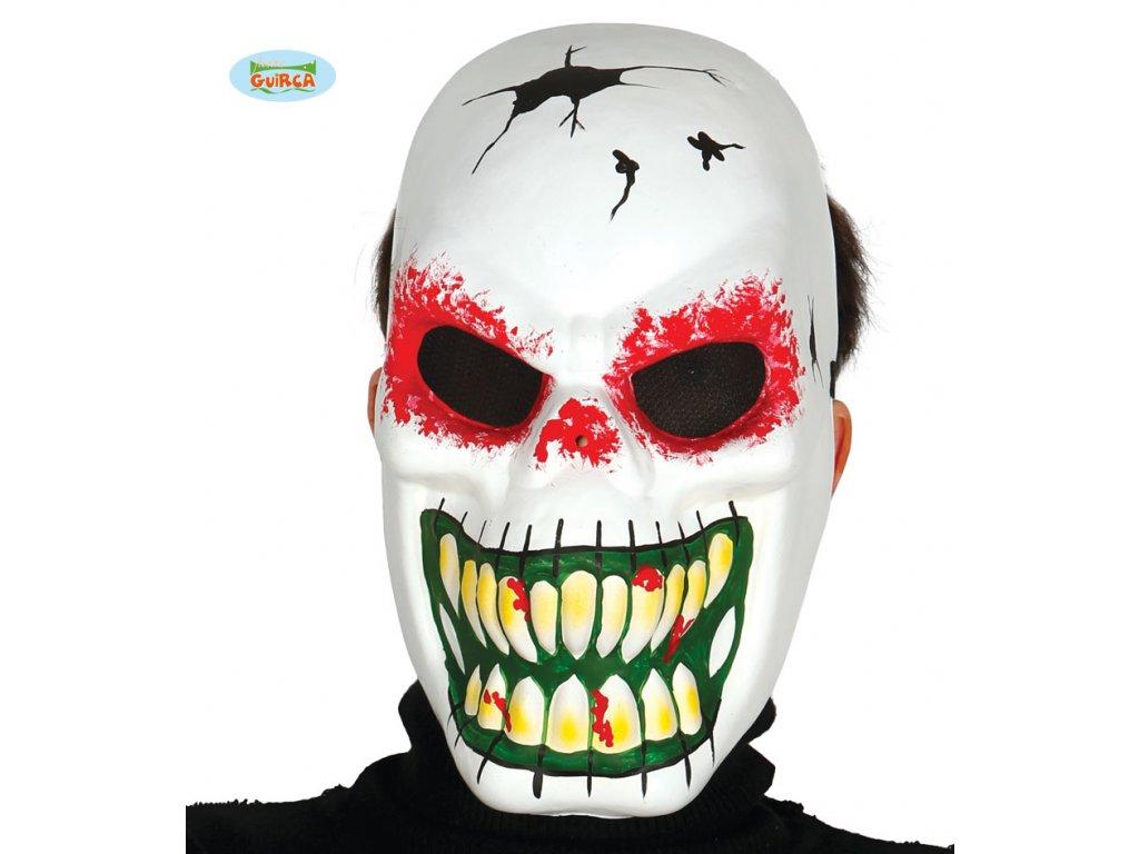 Maska skelet bílá - halloween  Halloween