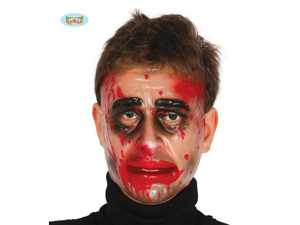 Maska průhledná - muž  Halloween
