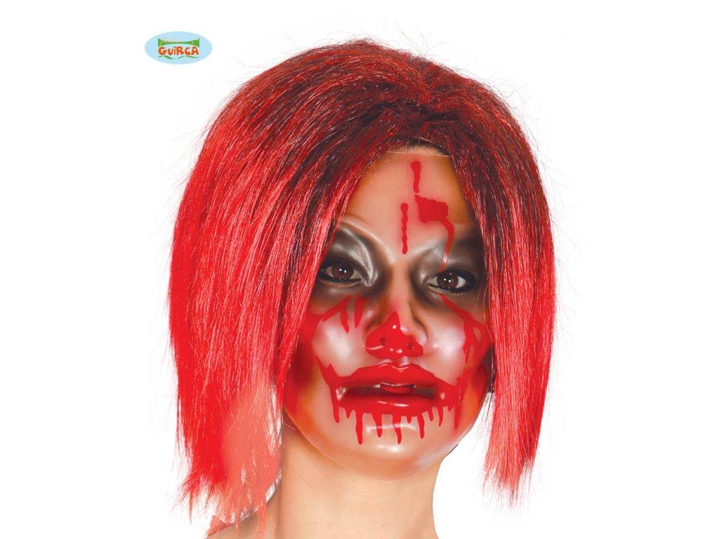 Maska průhledná - žena  Halloween