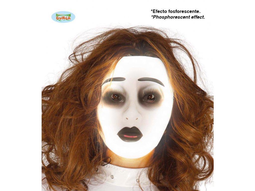 Fluoreskující maska ducha - ONA  Halloween