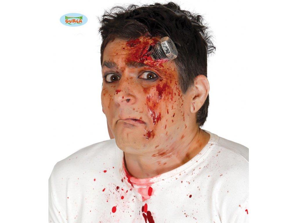 Poranění šroubem  Halloween