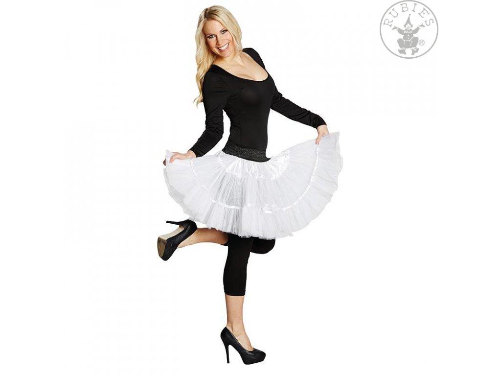 Tylová sukně Petticoat bílá  dámský karnevalový kostým