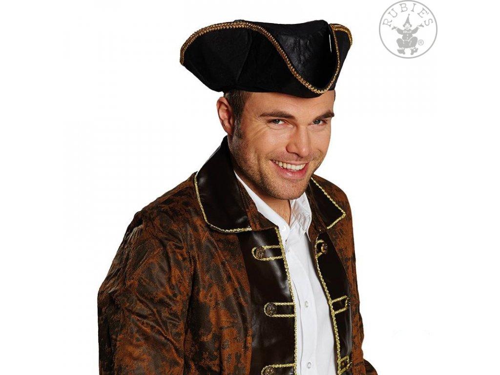 Pirátský klobouk pro dospělé - imitace kůže