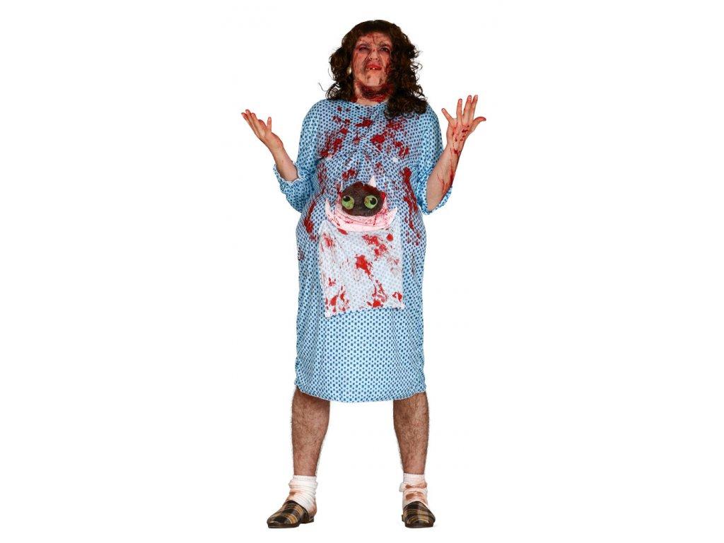 Zombie - těhotná žena D  strašidelný dámský karnevalový kostým vhodný nejen na Halloween