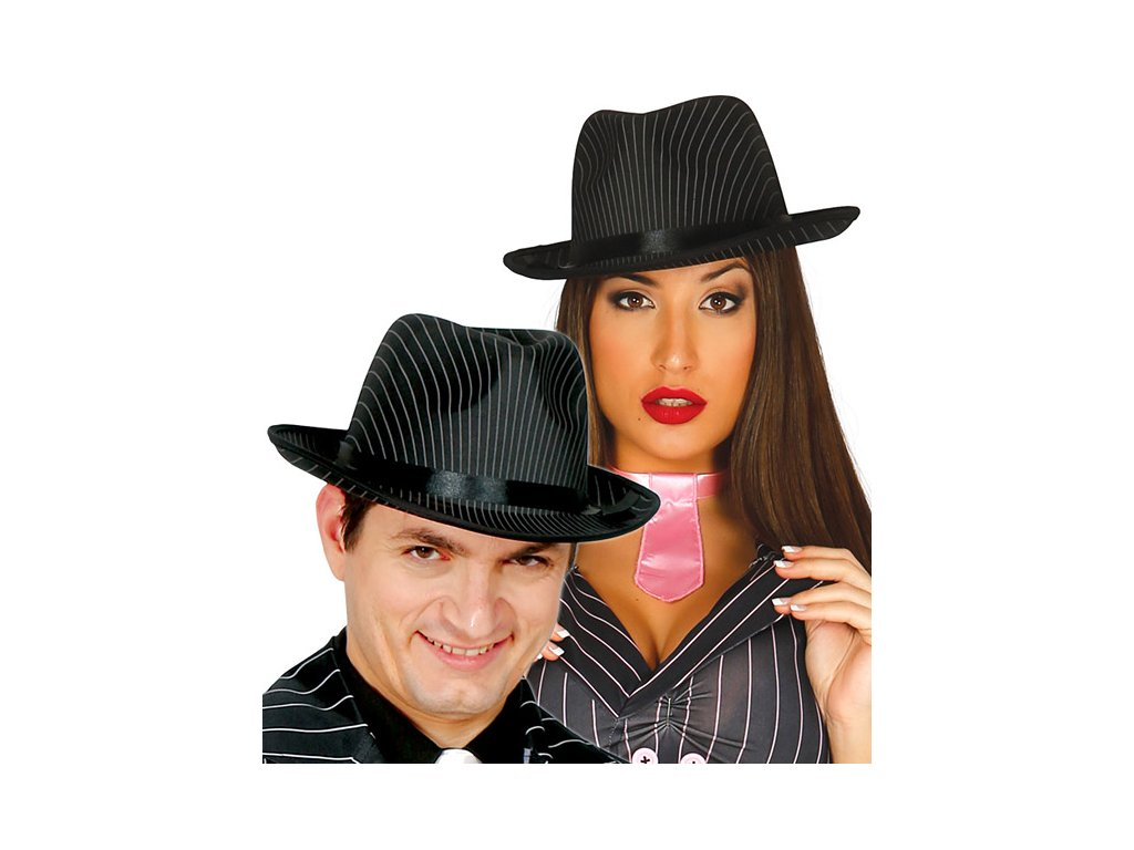 Borsalino - gangsterský proužkovaný klobouk