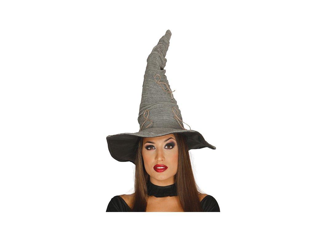 Čarodějnický klobouk šedý  čarodějnice