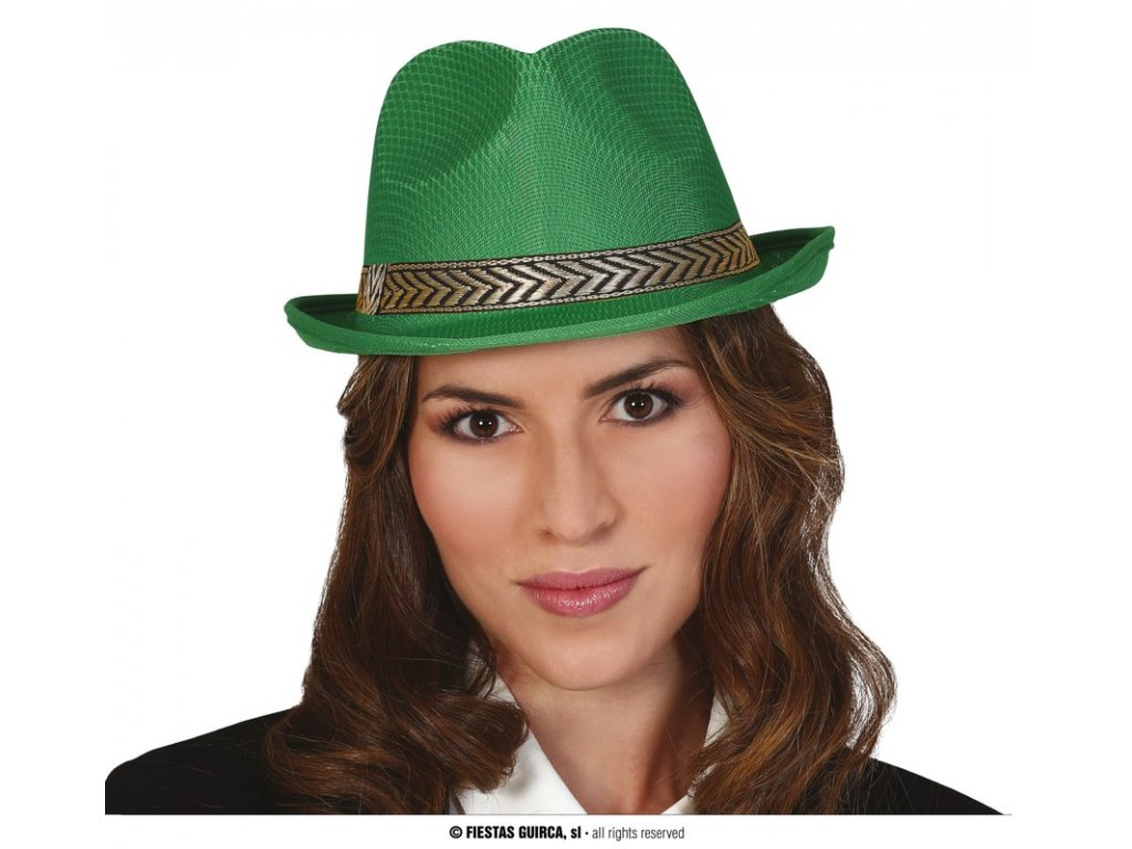 Klobouk gangster zelený