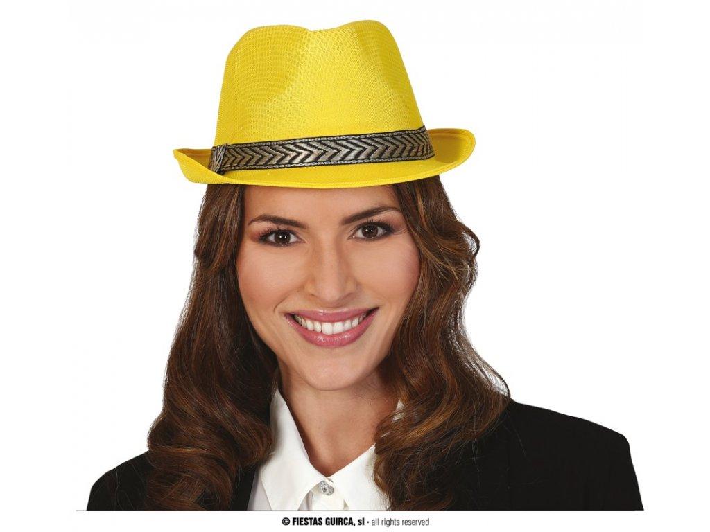 Klobouk gangster žlutý