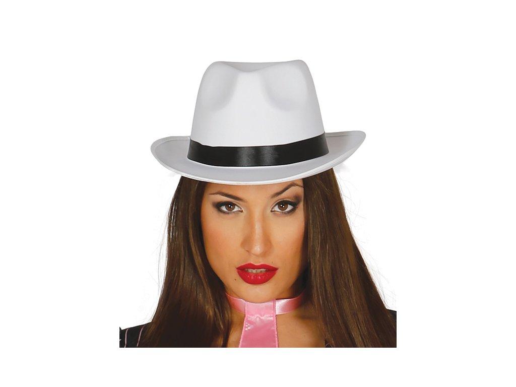 Borsalino - gangsterský klobouk bílý
