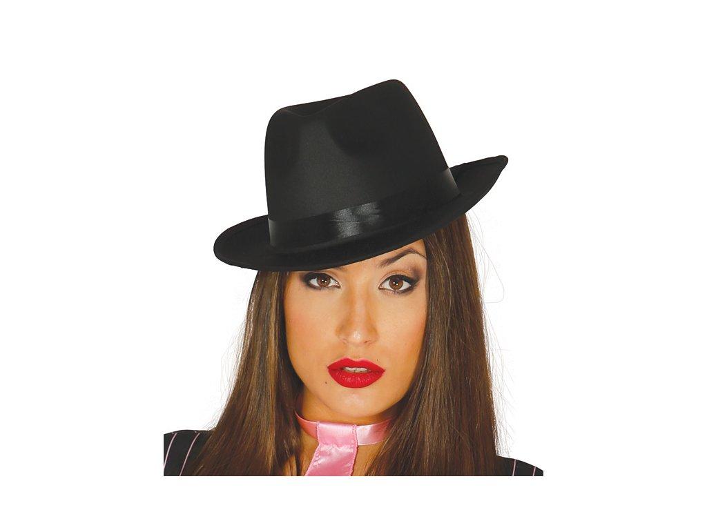 Borsalino - gangsterský klobouk černý