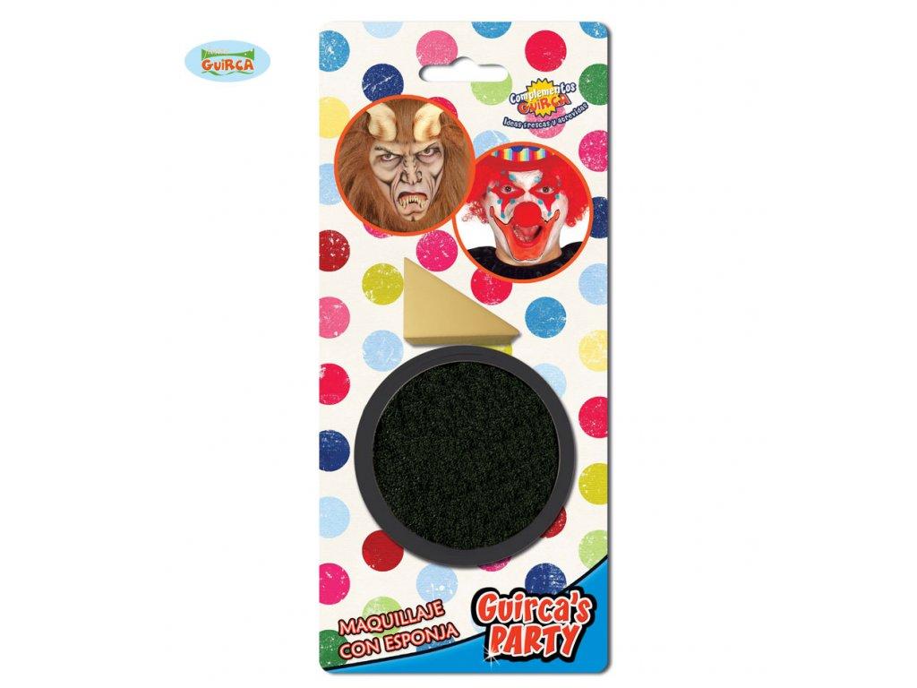 Líčidlo černé s aplikačnou houbičkou