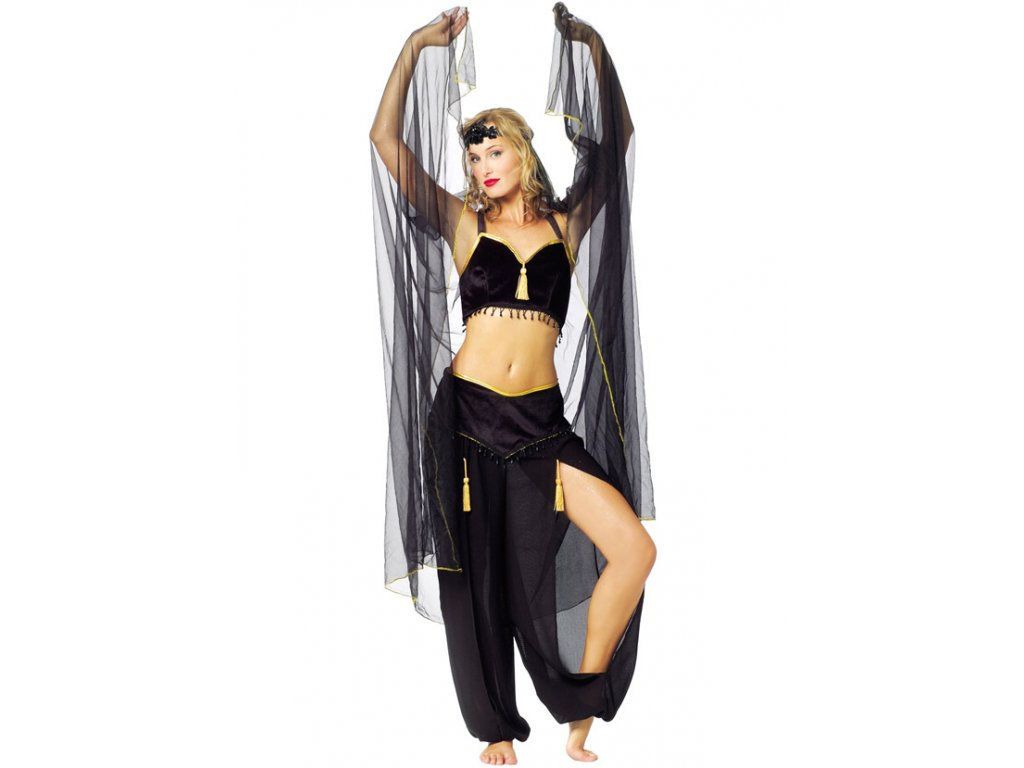BELLY DANCE BLACK - kostým  dámský karnevalový kostým