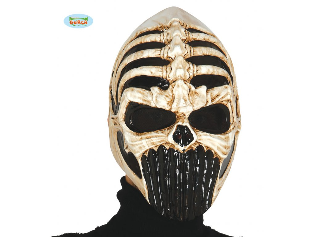 Maska skull warrior  strašidelná maska vhodná nejen na Halloween