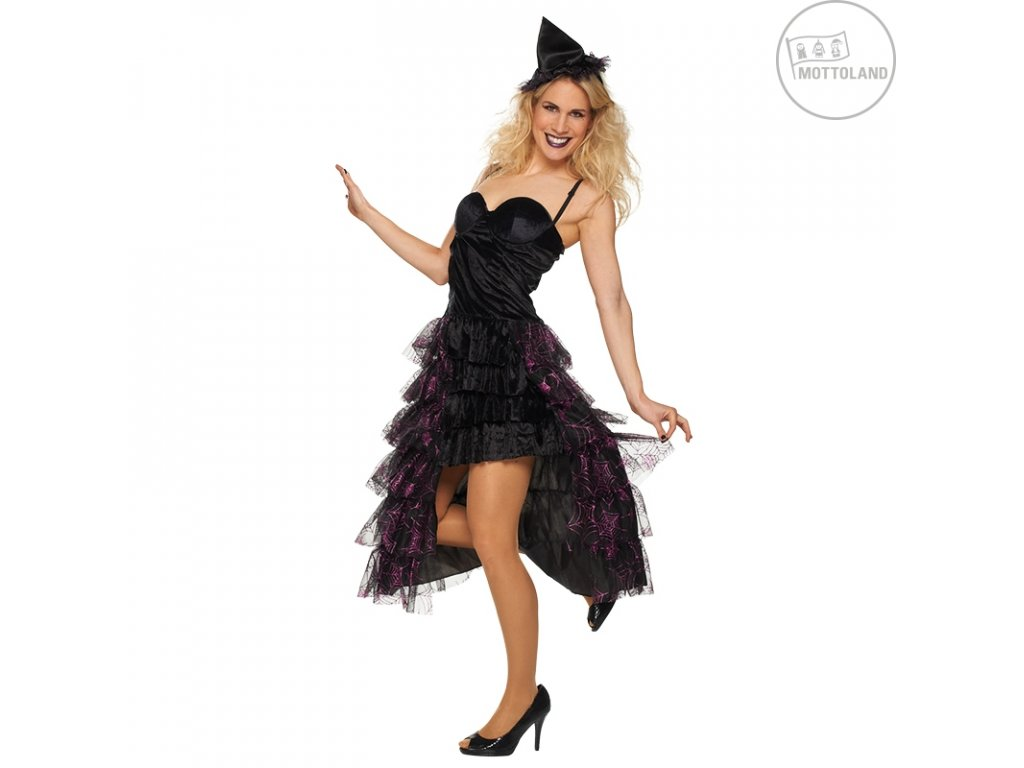 Deluxe witch -  čarodějnice D  elegantní dámský karnevalový kostým čarodějka