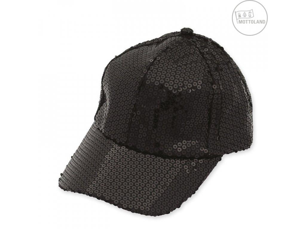 Flitrová čepice černá D