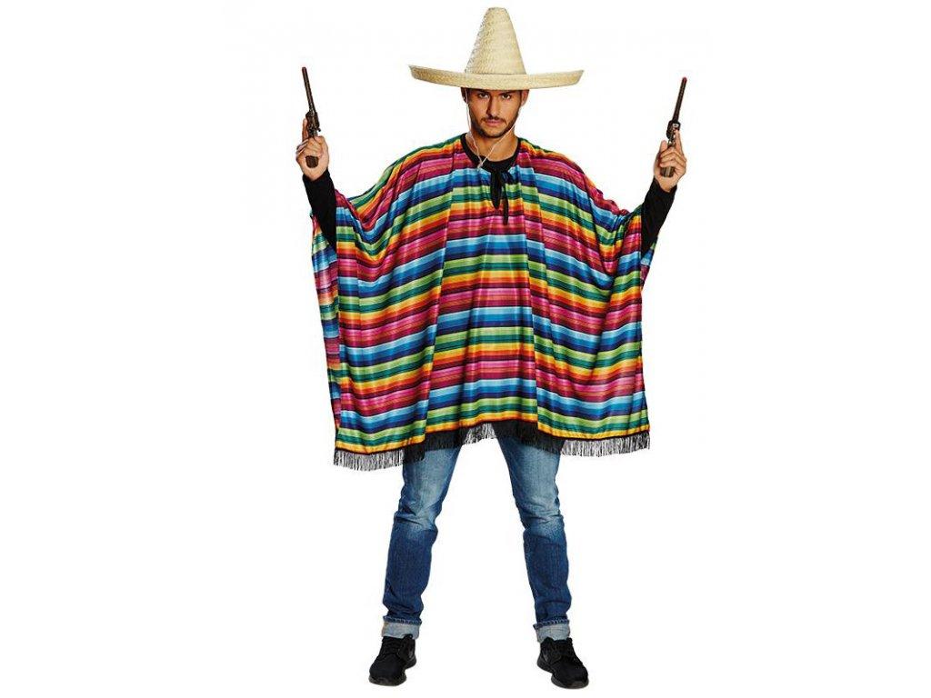 Mexické poncho  pánský karnevalový kostým