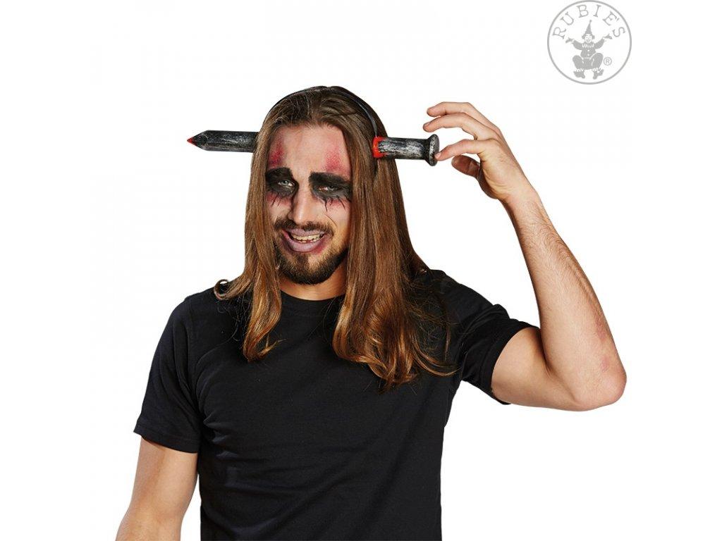 Vlasová spona s hřebem  Halloween
