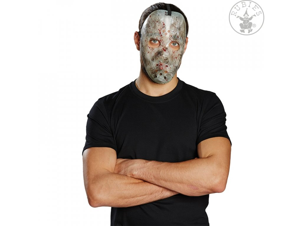 Hokejová maska fluoreskující  Halloween
