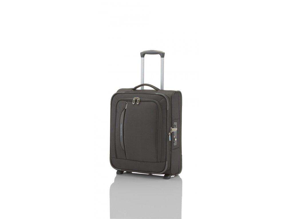 Travelite CrossLITE 2w S Black  + textilní rouška ke každé objednávce zdarma