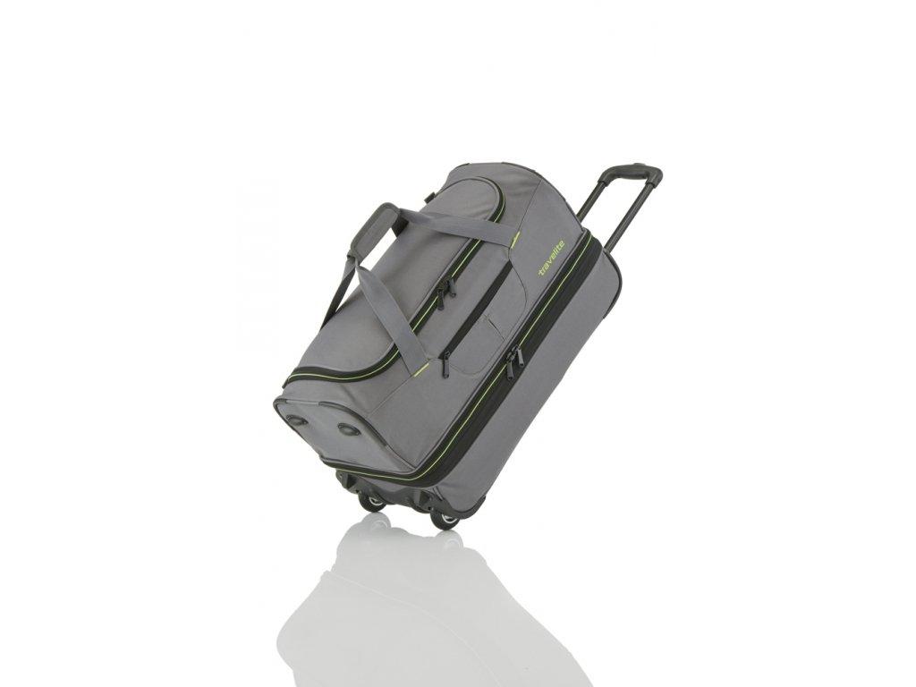 Travelite Basics Wheeled duffle S Grey/green  + textilní rouška ke každé objednávce zdarma