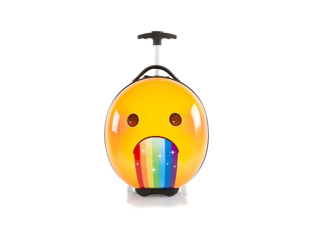 Heys e-Motion Kids Luggage Rainbow  dětský kufr na kolečkách s motivy emotikonů