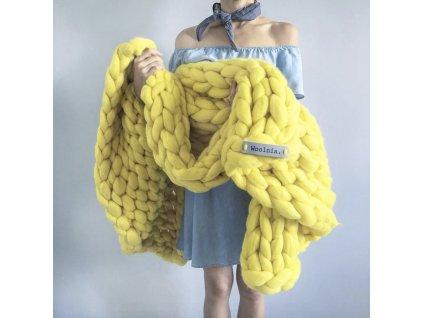 Merino Vlněná Deka Sun 75x130  + textilní rouška ke každé objednávce zdarma