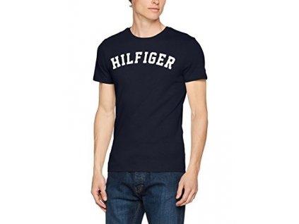 Tommy Hilfiger Pánské Tričko Iconic Navy L  + textilní rouška ke každé objednávce zdarma