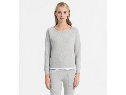 Calvin Klein Mikina Šedá  + textilní rouška ke každé objednávce zdarma