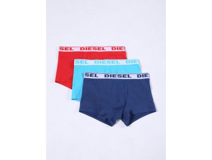 Diesel 3Pack Boxerky Red, Blue & Turquoise S