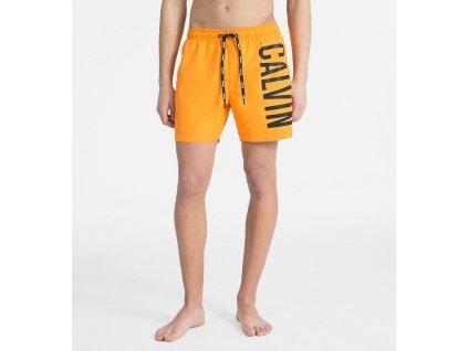 Calvin Klein Plavkové Šortky Intense Power Orange XL