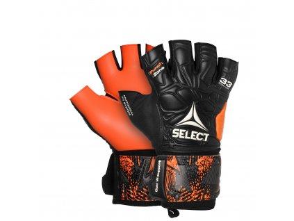 Select GK gloves Futsal Liga 33 Negative Cut černo oranžová