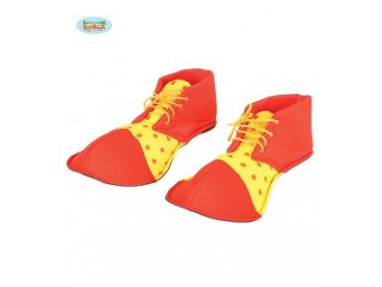 Klaunské boty červeno-žluté