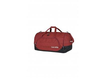Travelite Kick Off Duffle XL Red  + dvouvrstvá rouška zdarma ke každé objednávce