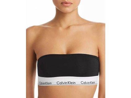 Calvin Klein Podprsenka Bandeau Black  + textilní rouška ke každé objednávce zdarma
