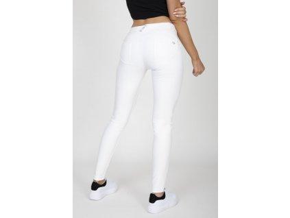 Hugz White Faux Leather Mid Waist L