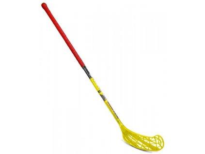 Floorbal hůl HUNTER 95 cm Sedco levá oranžovo/žlutá