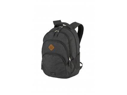 Travelite Basics Backpack Melange Anthracite  + textilní rouška ke každé objednávce zdarma