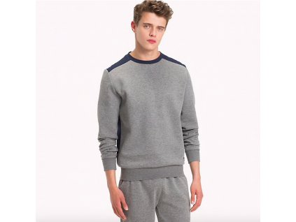 Tommy Hilfiger Mikina Colour Blocked Grey L