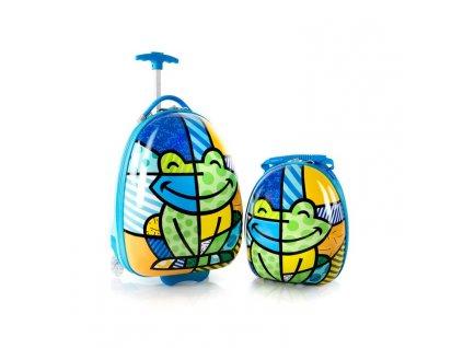 Heys Britto Frog – sada kufru a batohu  + textilní rouška ke každé objednávce zdarma