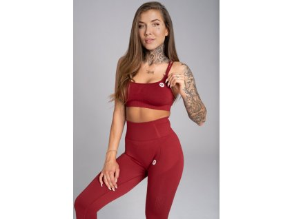 Gym Glamour Podprsenka Seamless Bordo L