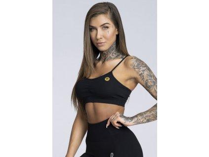 Gym Glamour Podprsenka Simply Black M  + textilní rouška ke každé objednávce zdarma